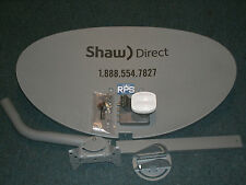 60E 60cm SATELLITE DISH SHAW DIRECT TRIPLE QUAD OUTPUT XKU LNBF Brand New