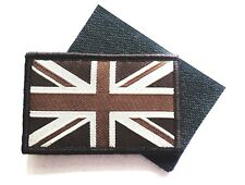 GB UNION JACK PATCH velcro backed UBAC brown desert ops army forces flag badge