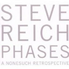 STEVE REICH - PHASES-A NONESUCH RETROSPECTIVE 5 CD  50 TRACKS CLASSIC  NEU