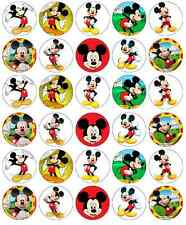 30 x Mickey Mouse Birthday Cupcake Toppers Edible Wafer Paper Fairy Cake Toppers