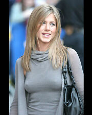 JENNIFER ANISTON 8X10 PHOTO PICTURE PIC HOT SEXY TIGHT SWEATER CANDID 67