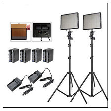 Aputure 2x AL-528W CRI95+ LED Video Light Kit +2x Light Stand +Battery Pack +Bag
