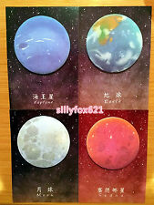 Cosmos Galaxy Planet Sticky Notes Post-it note book Page marker memo stickers UK
