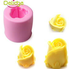 Soap Candle Mold 3D Rose Flower Flexible Silicone Mould For Candy Chocolate Cake