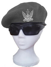 Israeli Air Force Military IAF Authentic Wool Grey beret & hat Badge of Pilots