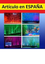 AMARILLO Luces LED acuario 24cm tira iluminacion pecera peces flexible 12V coche