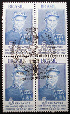 Brazil 1967 Scott #1056 block of four mnh with first day of issue special cancel