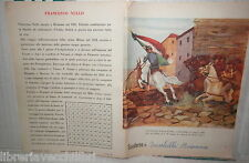 VECCHIO QUADERNO SCOLASTICO FRANCESCO NULLO ENTRA A PALERMO 1860 SYLVA DI SCUOLA