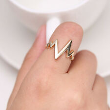 1Pc Vogue Unisex High Quality Heartbeat Melody Ring Lightning Finger Rings Gifts