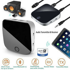 2 in 1 Bluetooth Transmitter + Receiver Aptx Digital Optical Toslink Output AUX