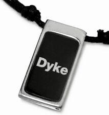RP10 Gay Lesbian Pride Halskette Surferkette DYKE Dog Tag Rainbow LGBT Necklace
