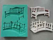Silicone Mould BENCH AND BRIDGE Sugarcraft Fondant / fimo mold