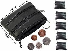 Ladies Men Genuine Real Leather Small Coin Card Key Ring Wallet Pouch Purse zp4C
