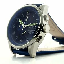 New XO Retro P-38 Lightning Plane Vintage WWII 1943 Military DNA Blue Watch