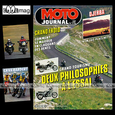 MOTO JOURNAL N°770 KAWASAKI GTR 1000 HONDA GL 1200 GOLDWING ASPENCADE 1986