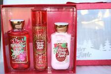 Bath & Body Works Boxed Gift Set Winter Candy Apple Body Lotion Mist Shower Gel
