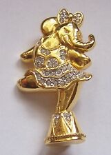 VINTAGE     ''   CIRCUS ELEPHANT STANDING ON BACK LEG   ''   BROOCH PIN