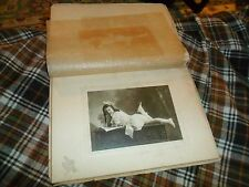 Antique PHOTOGRAPH OF YOUNG GIRL POSING ON TUMMY Transposed 2X RARE !