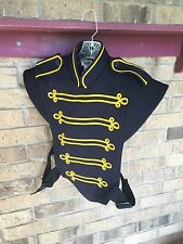 1 Marching Band Uniform Navy Yellow Vest Costume sgt pepper sergeant L Or XL