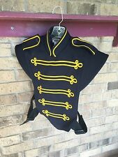 10 Marching Band Uniform Navy Yellow Vest Costume sgt pepper sergeant S M Medium