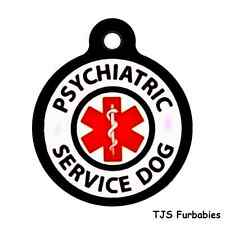 PSYCHIATRIC SERVICE DOG-Custom Personalized Pet ID Tag for Dog Collars