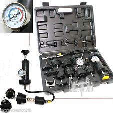 18pc Radiator Pump Pressure cooling Leak Tester Checker Kit Cap Pump Thermometer