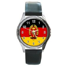 EAST GERMANY FLAG ROUND WRISTWATCH **SUPERB ITEM**