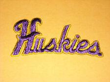 """NCAA Washington Huskies Iron On Script Patch 4 1/4"""""""