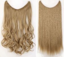 Premium Long Straight Curly Secret Wire Headband Hair Extensions As Human Hair A