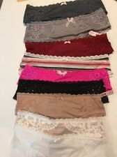 NWT Victoria's Secret Lot Of 9 Hiphugger/hipster Multi Colors Lace Small #M68