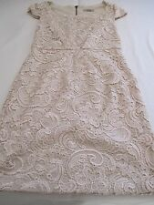 """DARLING"" GORGEOUS GORGEOUS GORGEOUS CREAM LACE FITTED PARTY EVENING DRESS UK 8"