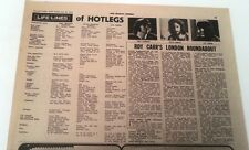 HOT LEGS (TEN CC) 'lifelines' 1970 UK ARTICLE / clipping