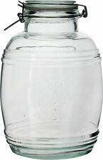 3 Litre Clip Top Jar Airtight Rice Pasta Sweets Storage 3L Glass