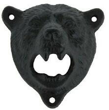 Cast Iron Wall Mount Grizzly Bear Teeth Bear Bottle Opener SCREWS INCLUDED NEW