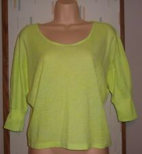 h.i.p. Happening in the Present Yellow Neon Dolman Sleeve Knit Top   Sz.XS