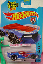 case Q 2014 Hot Wheels STREET SHAKER #14 US☆Blue/White;Red;US Soccer Team;Futbol