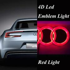 4D Car Styling Rear Badge Emblem Logo with Red LED Light fit for Audi A3 Q5