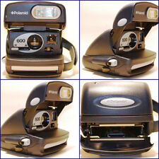 LAND CAMERA CAMARA POLAROID 600 BLUE AÑO 1990s POLAROID 600* FUNCIONA.