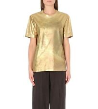 MAISON MARTIN MARGIELA METALLIC CREW TEE TOP SMALL