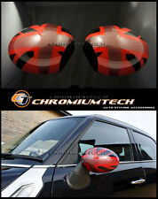 MINI R55 R56 R57 RED UNION JACK WING MIRROR Cap Covers for Manual Fold Mirrors
