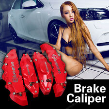 Universal Sliver Brembo Style Red Brake Caliper Covers For Porsche Ram Dics Kits