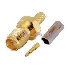 SSMA Female Jack Straight Crimp For RG316 RG174 LMR100 RG188A Cable RF Connector