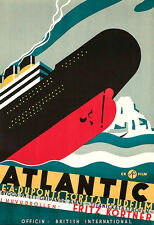 Art Ad Atlantic Titanic Film  Poster Print