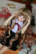 1 4 7-8 Dal BJD SD MSD Wig MDD DOD LUTS DOC Dollfie Doll Toy Brown Red Long wigs