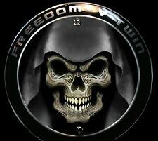 Skull in Hood Victory Custom DerbyCapper fits Freedom Engine Derby Cover