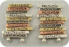 2 Hole Beads 3T Engraved with spectacular fantastic serenity phenomenal ~ QTY 20