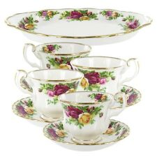 ROYAL ALBERT OLD COUNTRY ROSES 9 PCS BONE CHINA TEA COMPLETER SET BRAND NEW $220