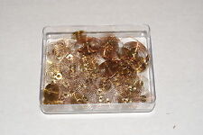 72 PIECE COPPER HAIRSPRING ASSORTMENT NEW CLOCK PARTS