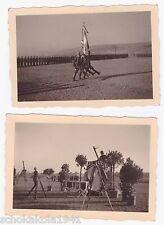 2 Foto --Flughafen wien 1941-- Vereidigung