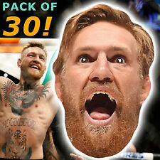 30 CONOR MCGREGOR PARTY CARD FACE MASKS UFC STAG BIRTHDAY NIGHT OUT  #MP21